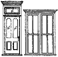 Grandt Line Products Inc Victorian Storefront Door & Window Set (1) -- HO Scale Model Railroad Building Accessory -- #5115