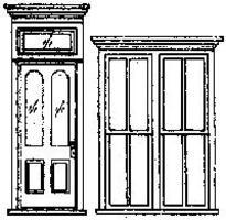 Grandt Victorian Storefront Door & Window Set (1) HO Scale Model Railroad Building Accessory #5115