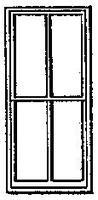 Grandt 4 Pane Double Hung Factory Window for Masonry Bldg HO Scale Model RR Building Accessory #5140