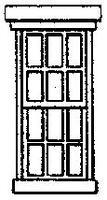 Grandt Double Hung Masonry Window (8) HO Scale Model Railroad Building Accessory #5154