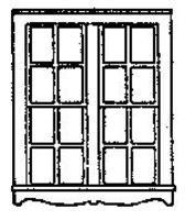 Grandt 4 Pane Queen Anne Double Hung Paired Window HO Scale Model Railroad Building Accessory #5160