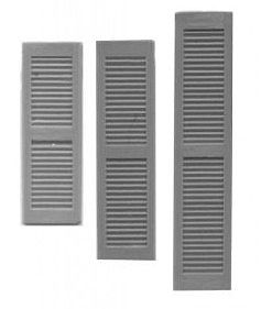 Grandt Louvered Window Shutters (16) HO Scale Model Railroad Building Accessory #5175