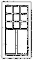 Grandt 2/9 Pane RGS Style Depot Window (8) HO Scale Model Railroad Building Accessory #5193