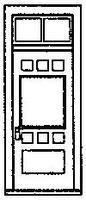 Grandt RGS Style Depot Door w/Window & Transom (4) HO Scale Model Railroad Building Accessory #5197