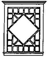 Grandt Diamond Pattern Picture Window (2) HO Scale Model Railroad Building Accessory #5206