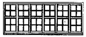 Grandt 48 Pane Window Yosemite Valley RR Bagby Station HO Scale Model Railroad Building Supply #5210