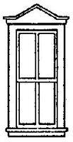 Grandt Pointed Top Double Hung Window (8) HO Scale Model Railroad Building Accessory #5220
