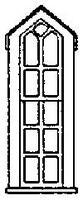 Grandt Peaked Double Hung 11 Pane Window HO Scale Model Railroad Building Accessory #5247