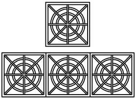 Grandt Decorative Iron Work Railing 4 Sets HO Scale Model Railroad Building Accessory #5294