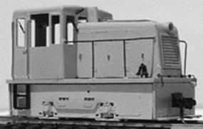 Grandt Narrow Gauge GE 25-Ton, 150HP Industrial Loco (Circa 1956) Kit w/Mabuchi Power Unit
