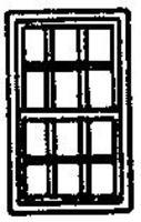 Grandt 12 Pane Double Hung Window (8) N Scale Model Railroad Building Accessory #8004