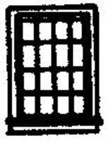 Grandt 12 Pane Double Hung Window (12) N Scale Model Railroad Building Accessory #8010