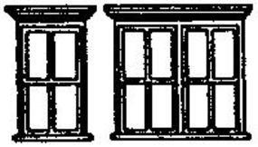 Grandt Victorian Windows Single/Double (2 Sets) N Scale Model Railroad Building Accessory #8020