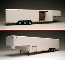 GalaxieLtd 38-Ft Tri-Axle Fifth Wheel Trailer Plastic Model Trailer Kit 1/24 Scale #38