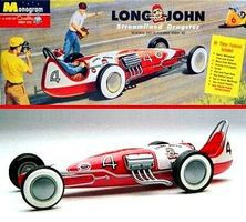 GalaxieLtd Long John Streamlined Dragster (Monogram) Plastic Model Dragster Kit 1/25 Scale #544