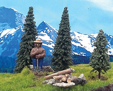 Grand-Central Smokey the Bear w/3 Trees - HO-Scale