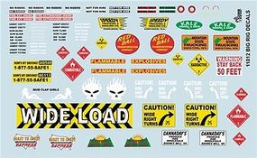 Gofer-Racing Big Rig Logos Plastic Model Vehicle Decal 1/24 Scale #11012