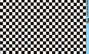 Gofer-Racing Checkers (Black/White) Plastic Model Vehicle Decal 1/24 Scale #11020