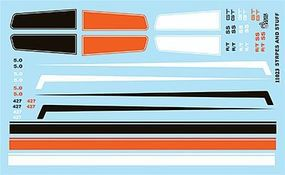 Gofer-Racing Stripes and Panels Decals Plastic Model Vehicle Decal 1/25 Scale #11023