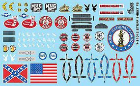 Gofer-Racing 1/24-1/25 Stuff Sheet #4 - Confederate Flag, etc. Plastic Model Vehicle Decal #11042