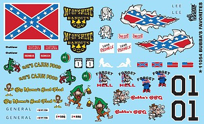 Gofer-Racing Bubbas Favorites Decals