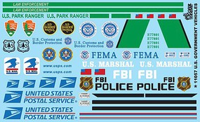 Gofer-Racing U S Government Vehicles Decals