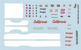 Gofer-Racing Butch Leal Dart Graphics Plastic Model Vehicle Decal 1/24 Scale #12001