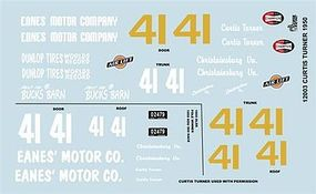 Gofer-Racing 1950 Olds Curtis Turner Graphics Plastic Model Vehicle Decal 1/24 Scale #12003