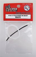 Plug Wires with Boot (White) Plastic Model Vehicle Accessory 1/24-1/25 Scale #16117