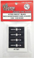 Gofer-Racing 1/24-1/25 Race Car Instrument Panel & Gauges Black (Die Cast/Plastic)