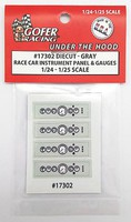 Gofer-Racing 1/24-1/25 Race Car Instrument Panel & Gauges White (Die Cast/Plastic)
