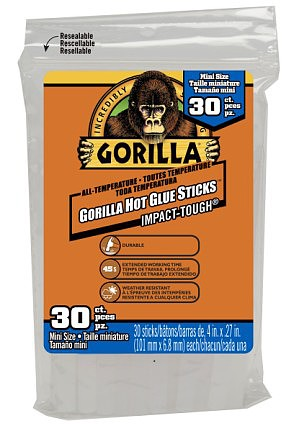 Gorilla 4 Mini All-Temperature Glue Sticks (30)