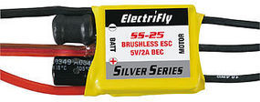 Great-Planes ElectriFly Silver Series 25A Brushless ESC 5V/2A BEC