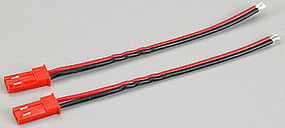 Great-Planes ElectriFly Male 2-Pin Red Conn (2)