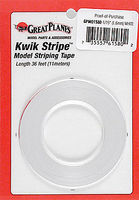 Great-Planes Striping Tape White 1/16
