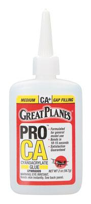 Great Planes Pro CA+ Glue 2 oz Medium