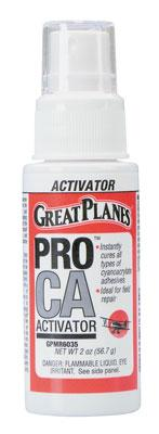 Great Planes Pro CA Activator 2 oz w/Pump Foam Safe