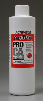 Great Planes Pro CA Activator 8 oz Refill Foam Safe