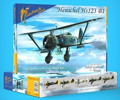 Gas-Patch 1/48 Henschel Hs123B1 BiPlane Bomber (New Tool)