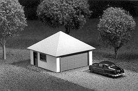 Great-West Sgl dr 2 car garage hip - HO-Scale