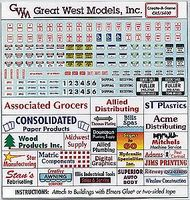 Great-West Asrtd Indus Clr Signs - HO-Scale