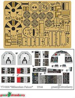 Green-Strawberry 1/144 Star Wars Millennium Falcon Detail Set for BAN (Photo-Etch)