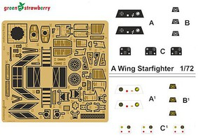 Green-Strawberry 1/72 Star Wars A-Wing Starfighter Detail Set for BAN (Photo-Etch)