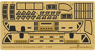1/350 Star Trek USS Enterprise (Refit) Arboretum Detail Set for PLL  (Photo-Etch)