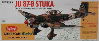 Guillows 34-1/4'' Wingspan Junkers Ju87B Stuka Kit