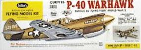 Guillows 28 Wingspan Curtiss P40 Warhawk Laser Cut Kit