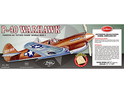 Guillows Model Kit WWII Model Warhawk