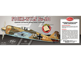 Guillows 25-3/4 Wingspan Focke Wulf Fw190 Laser Cut Kit