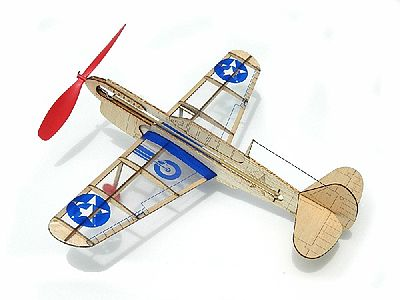 Guillows US Warhawk Aircraft Mini Laser Cut Kit