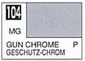 Gunze-Sangyo Solvent-Based Acrylic Metallic Gloss Gun Chrome 10ml Bottle (6/Bx)